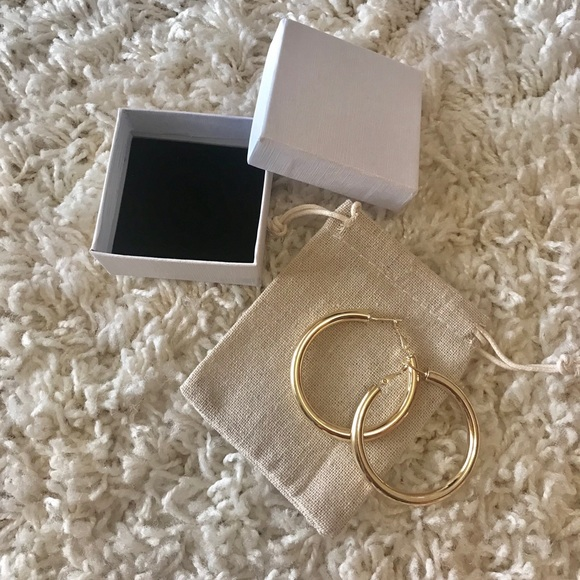 42206065b7a6c [🥂2 for $15] 18K gold plated hoop earrings NWT